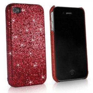 red sparkly iPhone case